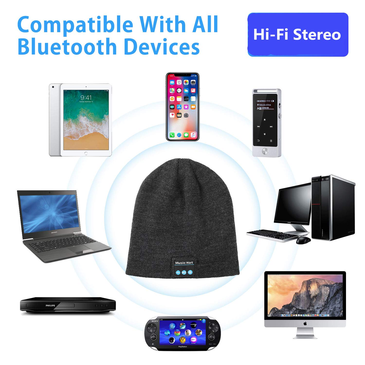 Wireless Bluetooth Beanie(Buy 2 for free shipping)