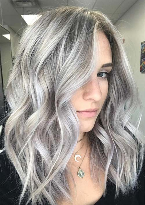 2020 New Gray Hair Wigs For African American Women Wigrip Grey And Lavender Hair Highline Wigs Coarse Grey Hair Treatment Short Blond Wig