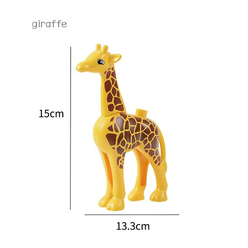 Animal Series Models Figures Large building blocks Animals Educational toys for children Gift Compatible Duploed Children Gifts