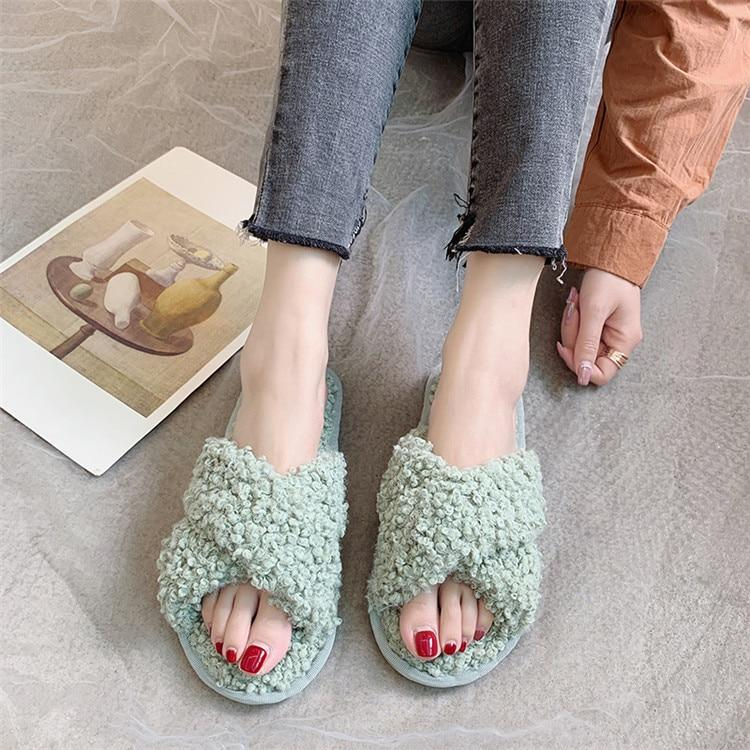 2020 fashion cashmere slippers