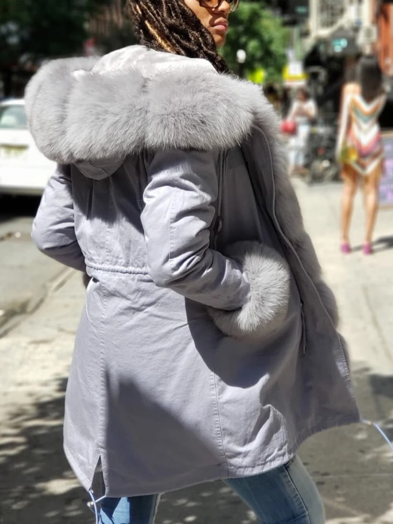 Women'S Autumn And Winter Street Style Long-Sleeved Coat