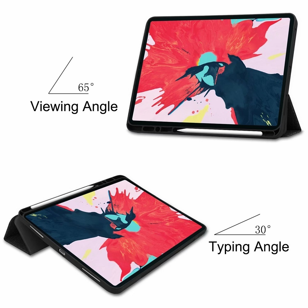 High-quality Smart Flip Stand with Pen Slot Protector Case Cover for iPad Pro 11 2020 iPad Pro 12.9 2020