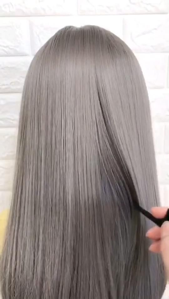 Gray Hair Wigs For African American Women Platinum Wig Quality Lace Front Wigs Chamomile Tea For Gray Hair 4X4 Closure Wig Salt Pepper Hair
