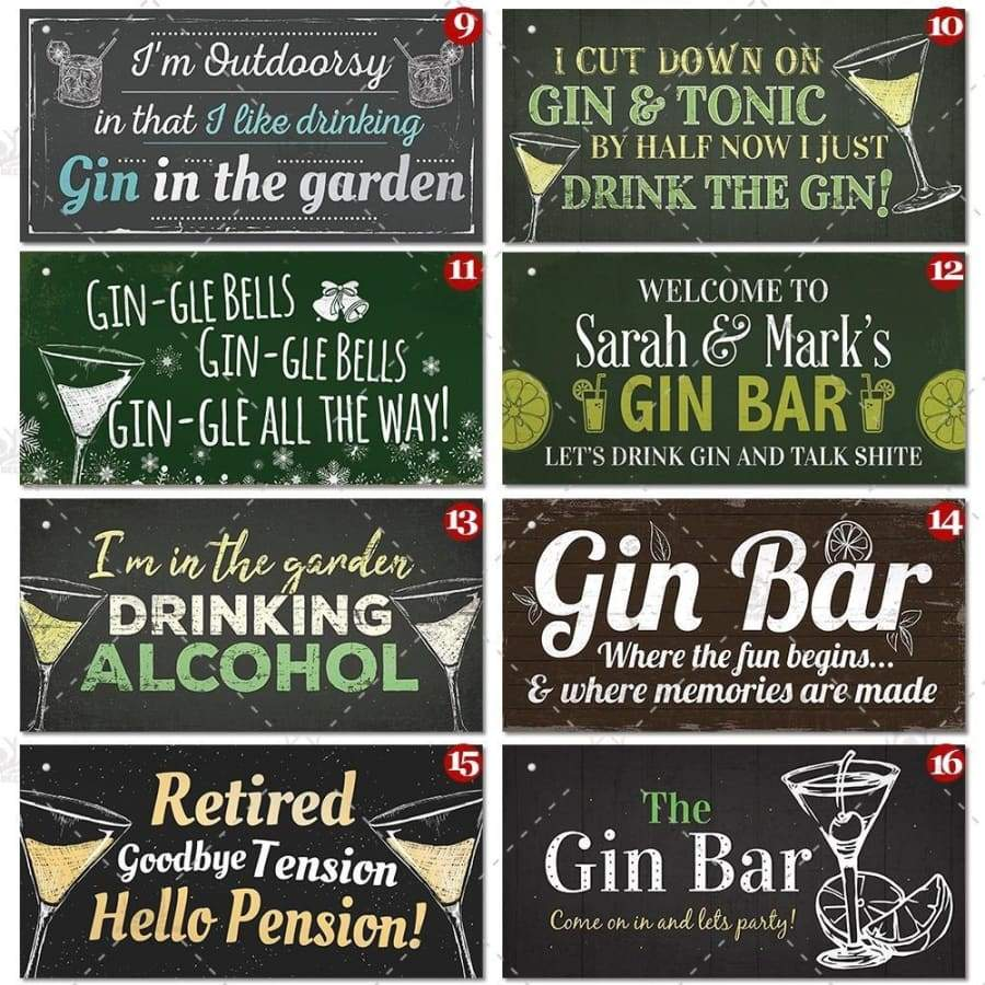 12 Kinds of Backyard Bar Wooden Hanging Plaques Signs Gift Home Man Cave Bar Decoration 3.9'¡Á7.8')