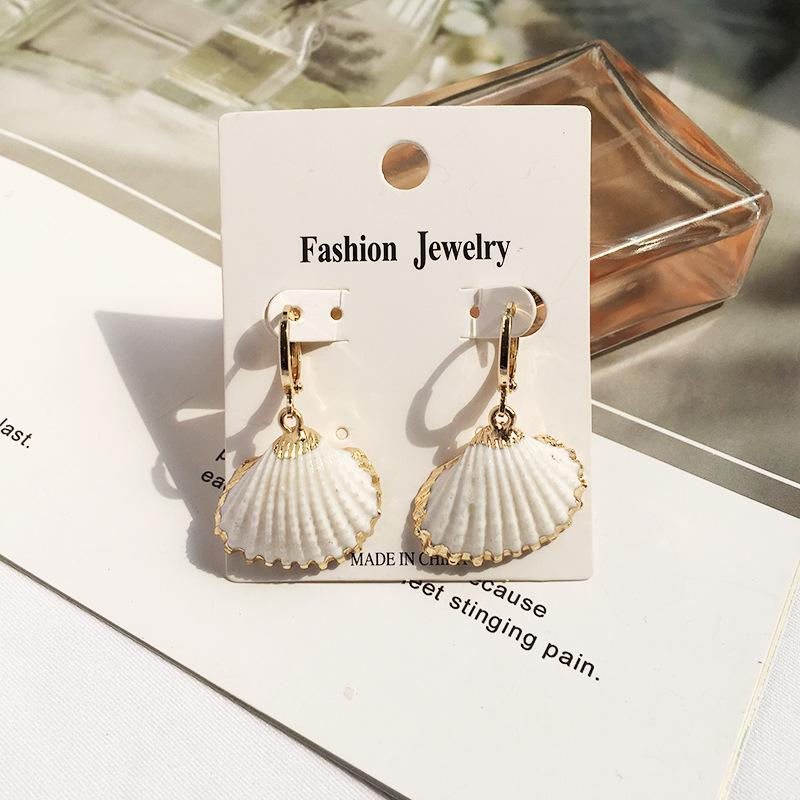 Manufacturer Sale Gold Plated Ladies Jewelry Seashell Earring