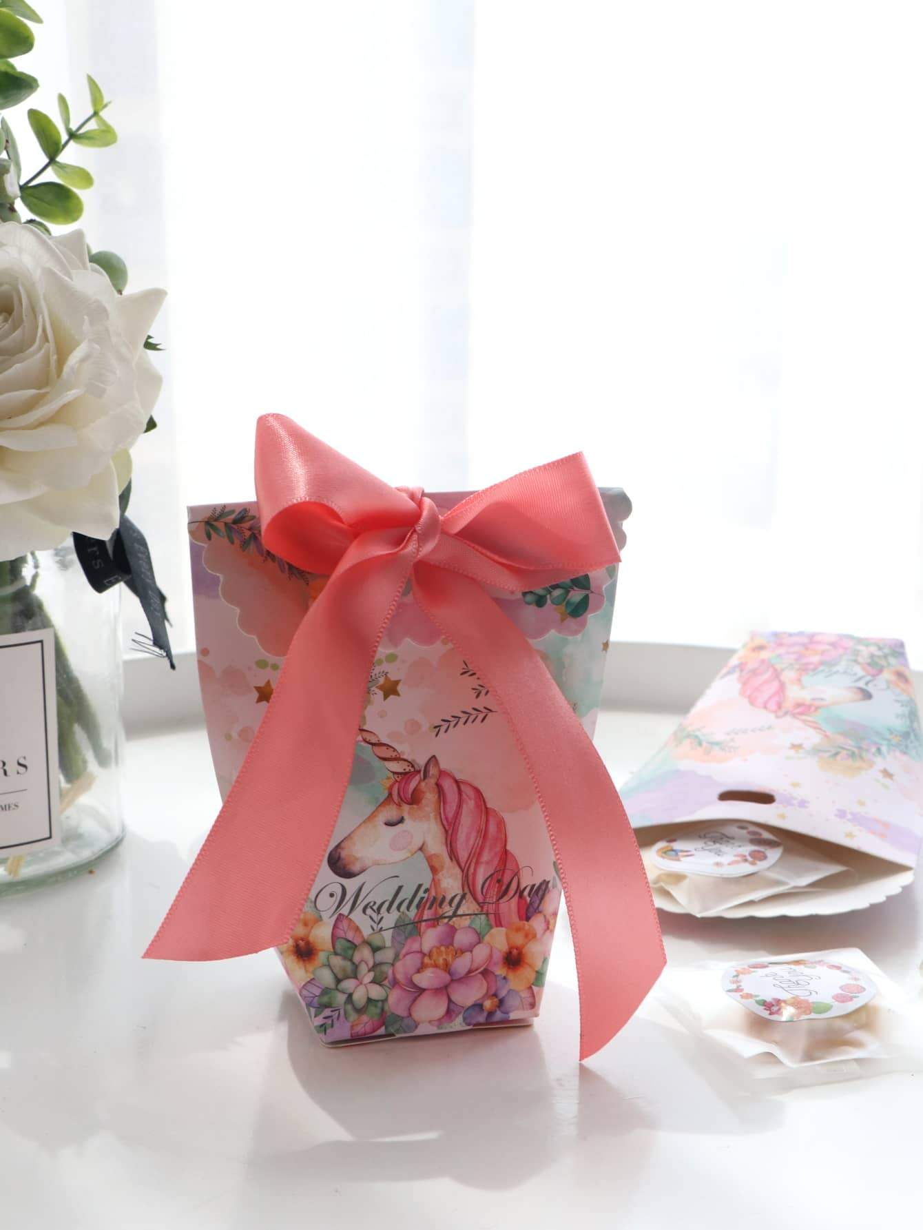 Unicorn Print Candy Box 10pcs