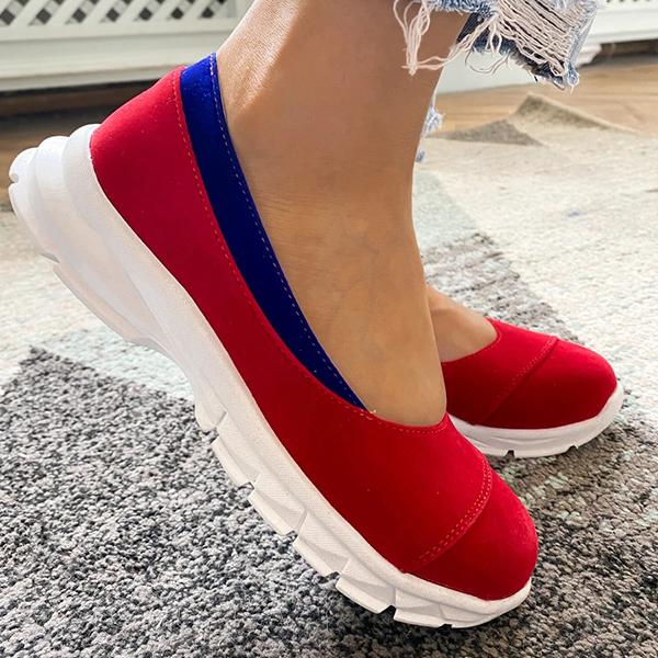 Zoeyootd Relaxed Fit Lightly Slip-On Sneakers
