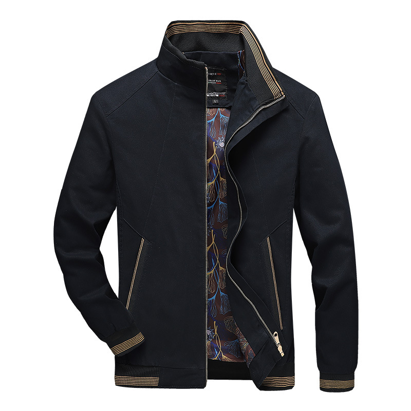 Men's casual washed cotton jacket