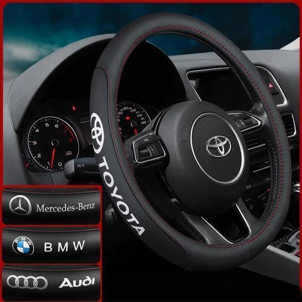 Warm Winter Steering Wheel Cover With Car Logo (Buy More Save More )