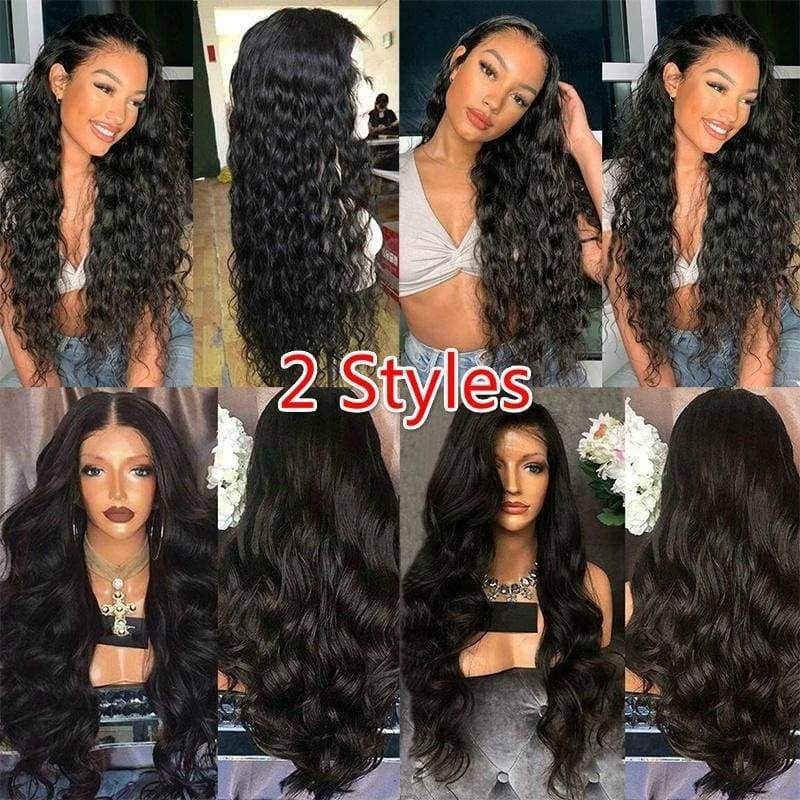 Women's Fashion Black Wig Wave Wig Curly Hair Long Wig Big Wave Wigs Hair Wig Long Curly Wavy Full Hair Wigs for Women Long Curly Hair Wigs Heat Resistant Wigs For Women Middle Part Heat Resistant Hair