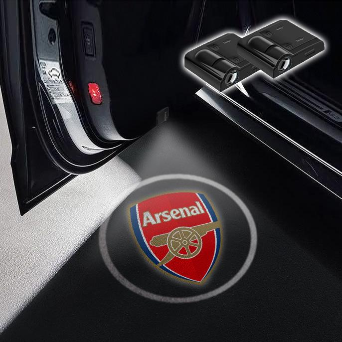 CarFitg Wireless Led Car Door Projector Puddle Logo Light - Arsenal