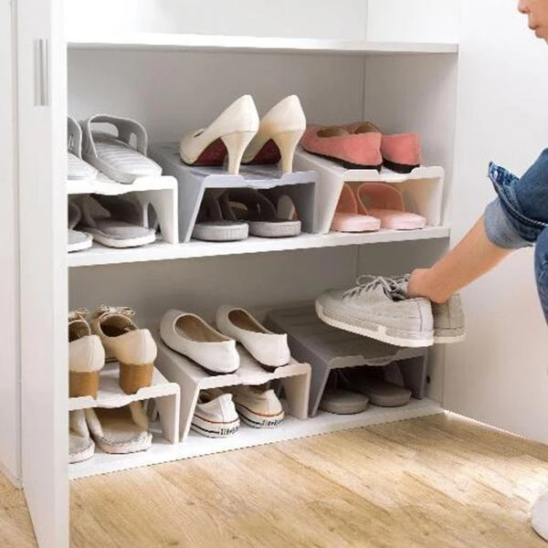 Holiday Hot Sale-Stackable Shoe Rack
