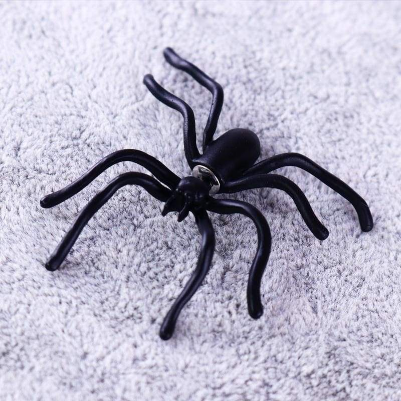 2 Pcs Punk Earring Black Spider Ear Stud Funny Style Weird Design Earring Decoration Jewelry Accessories for Party