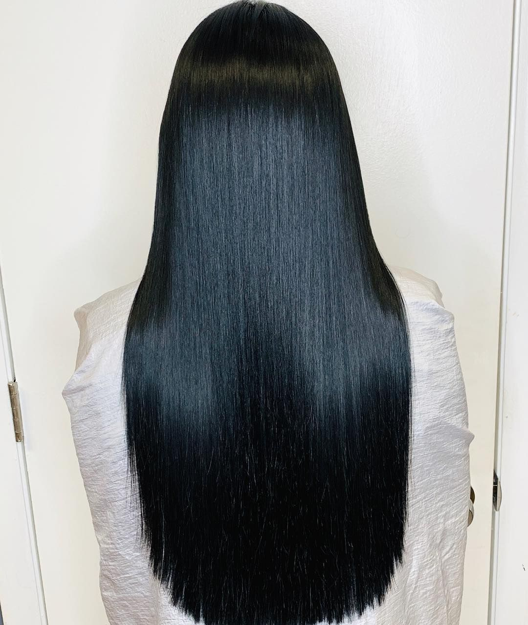 2020 New Straight Wigs Black Long Hair Straight Wave Straight Weft Hair Extensions