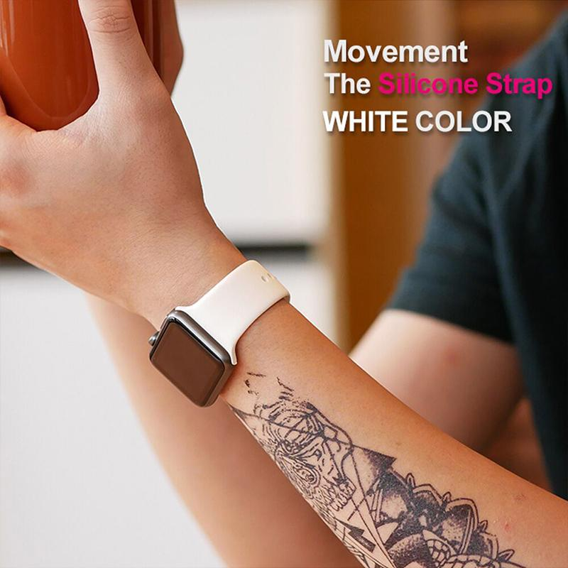 (Last Day 60% OFF)--Soft Silicone Replacement Sport Strap Compatible with 2019 Watch Series 5/4/3/2/1