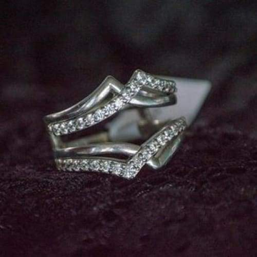 1.5 Carats White Diamond 3pcs Exquisite 925 Pure Silver Engagement Wedding Anniversary Set Ring Size 6-10