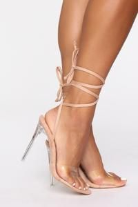 Trendy High Heel Shoes Red Lace Up Heels Slingback High Heels