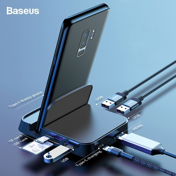 Baseus USB Type C HUB Docking Station For Samsung S10 S9 Dex Pad Station HDMI Dock Power Adapter For Huawei P30 P20 Pro