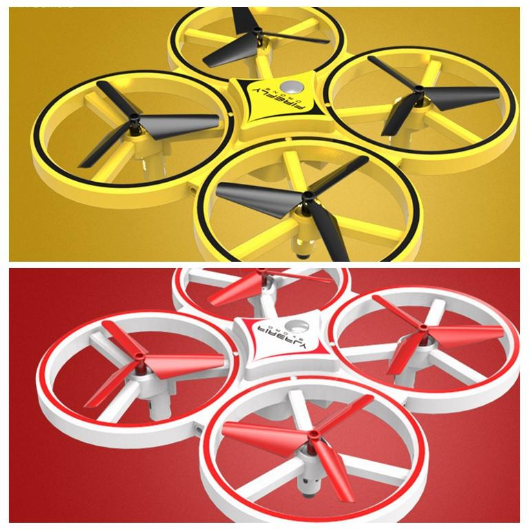 Mini Quadcopter Induction Drone Smart Watch Remote Sensing Gesture Aircraft UFO Hand Control Drone Altitude Hold Kids