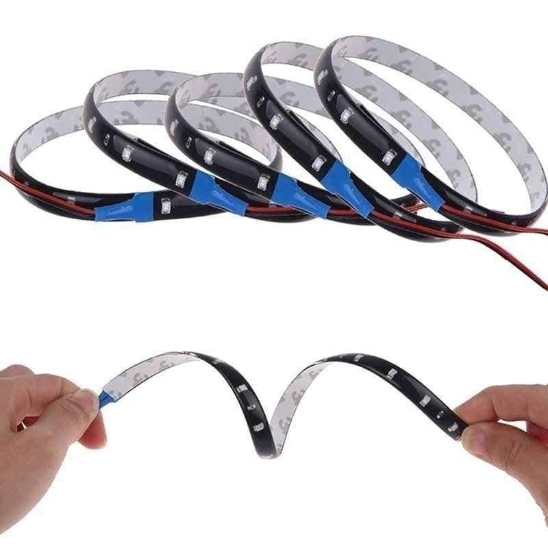 2 x NEW Waterproof 30cm/15SMD 3528 LED Car Truck Motors Flexible Strip Light 12V