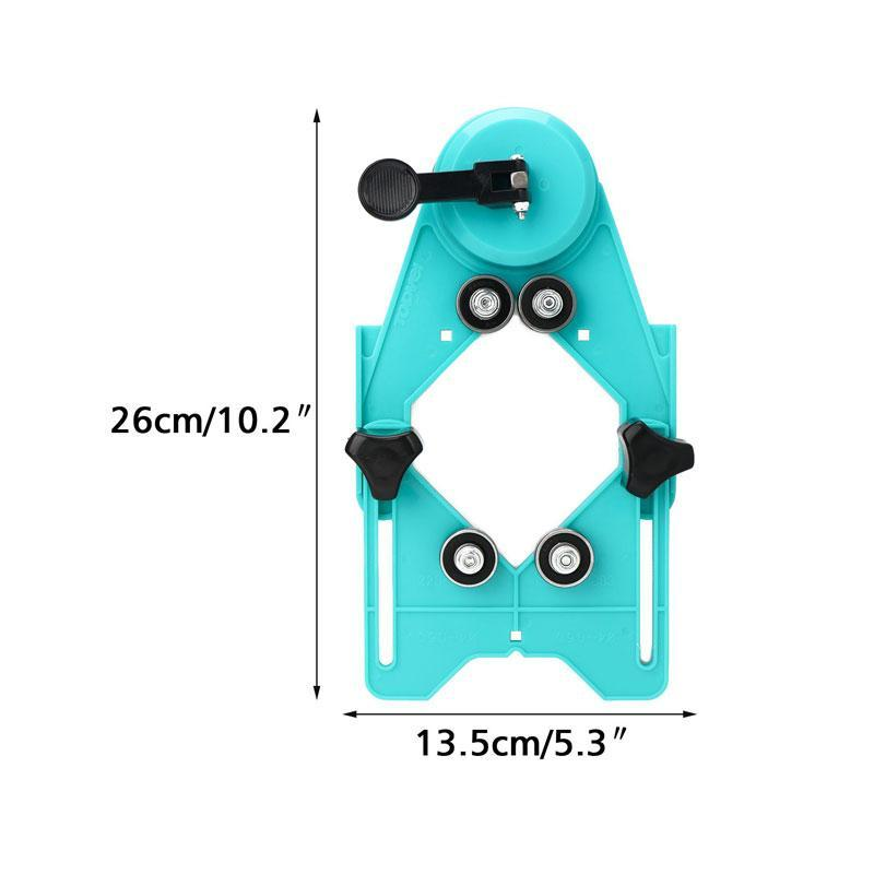 Adjustable Drill Bit Hole Cutter Centering Locator with Vacuum Suction Base