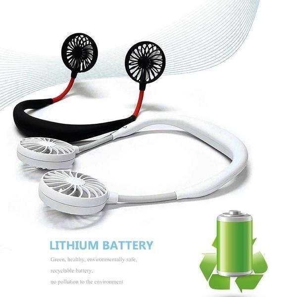 【Last Day Promotion & On-Time Delivery】Lazy Neckband Fan - Keep Cool Wherever You Are!