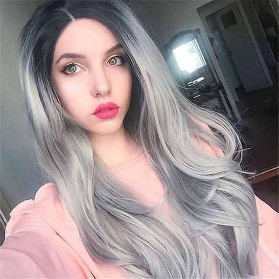 2021 New Lace Front Wigs Romance Grey Wigs Blonde To Gray Black Shampoo For White Hair