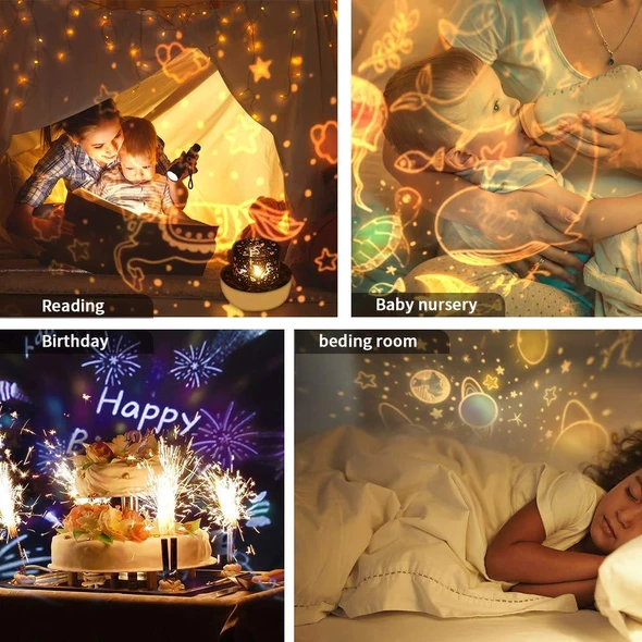 🎁Best Gifts-360 Rotation Starry Sky Projector🌟