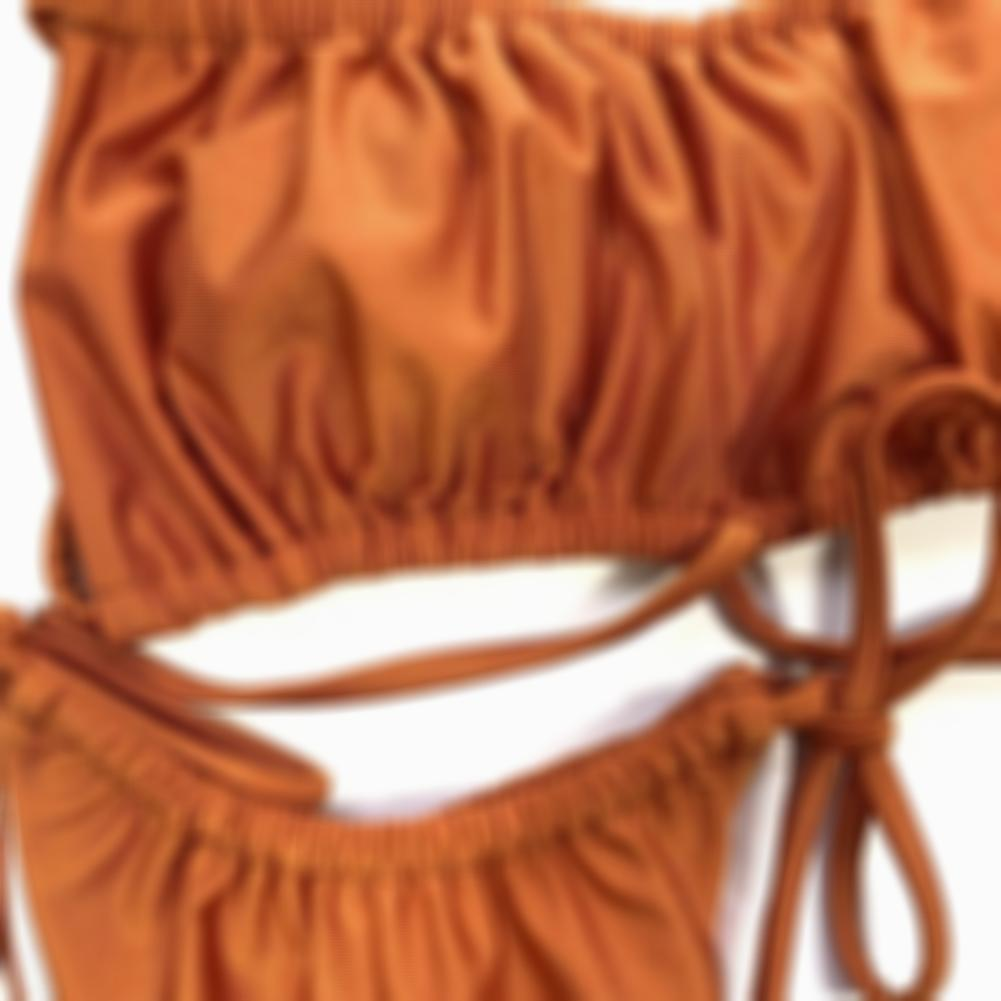 Sexy Solid Color Strings Thong Swimwear