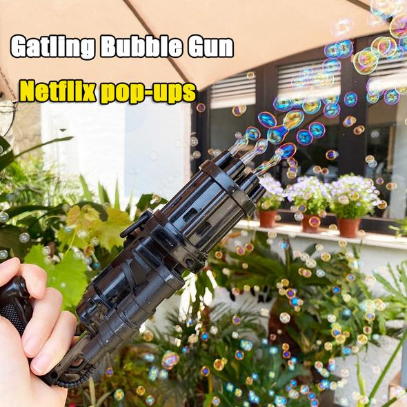 Gatling Bubble Machine 🎈(Cool Toys & Gift)