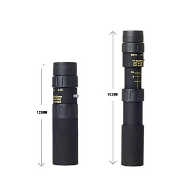 10 X 25 mm Monocular Roof Waterproof High Definition Compact Size Multi-coated Night Vision Rubber Metal / Wide Angle