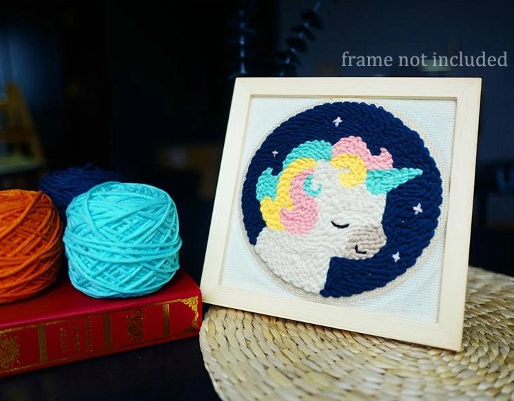 Unicorn Punch Needle Embroidery Kit