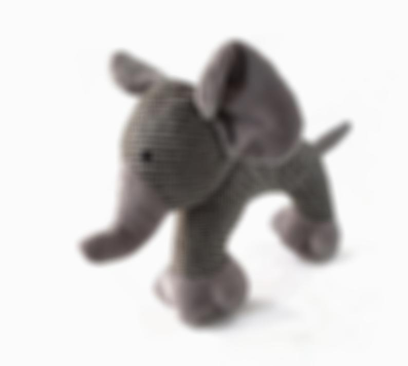 Elephant Dog Toy with Squeaker | Gray Stuffed Elephant Dog Toy with Soft Woven Texture for Soft to Medium Dog Chewers | Dog Toys for Puppies