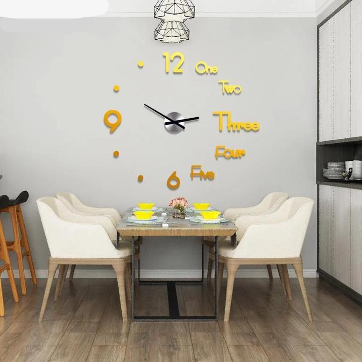 3D Mirror Modern Wall Clock