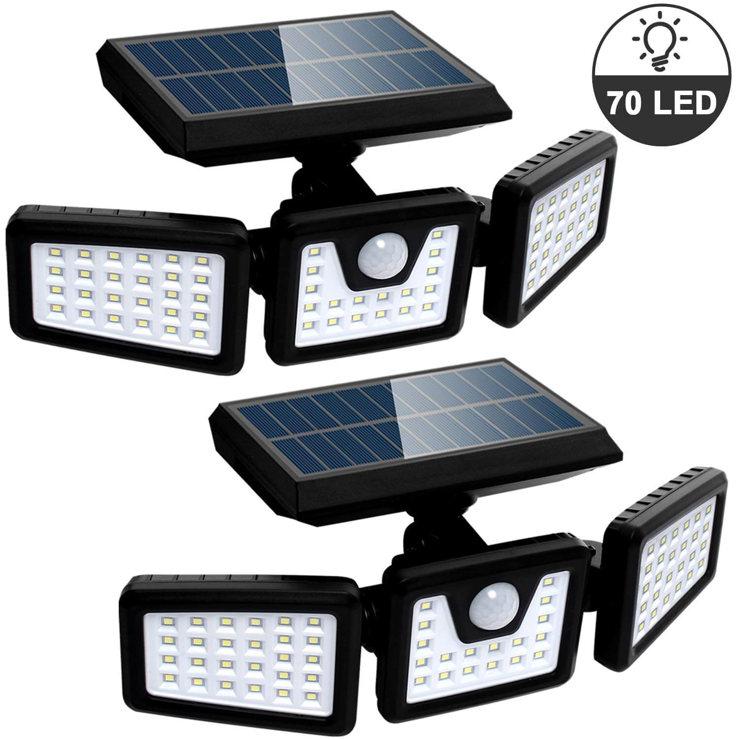 Bionic Spotlight Solar Lights Outdoor with Motion Sensor