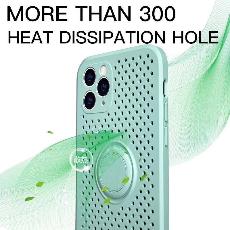 Square Heat Dissipation Holder Case For iPhone