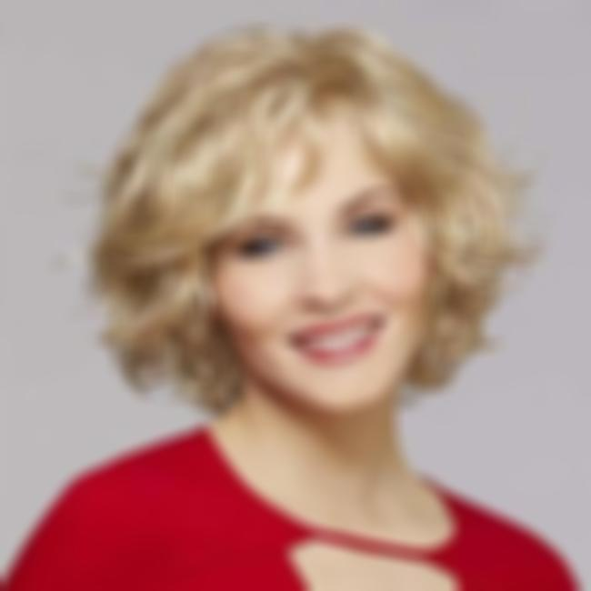KAMI 051 Blonde Short Curly Wigs for White Women Chic Layered Chin Length Wig