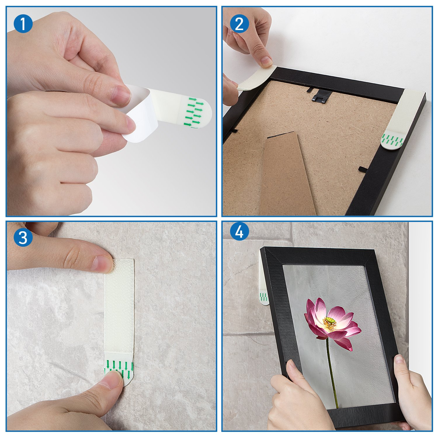 Picture and Frame Damage-Free Hanging Strips Heavy Duty
