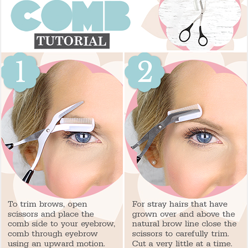 Eyebrow Trimmer Scissors With Comb