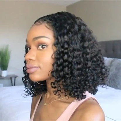 Lace Front Wigs For Black Women Curly Wet Wavy Lace Wigs Pre Plucked With Baby Hair