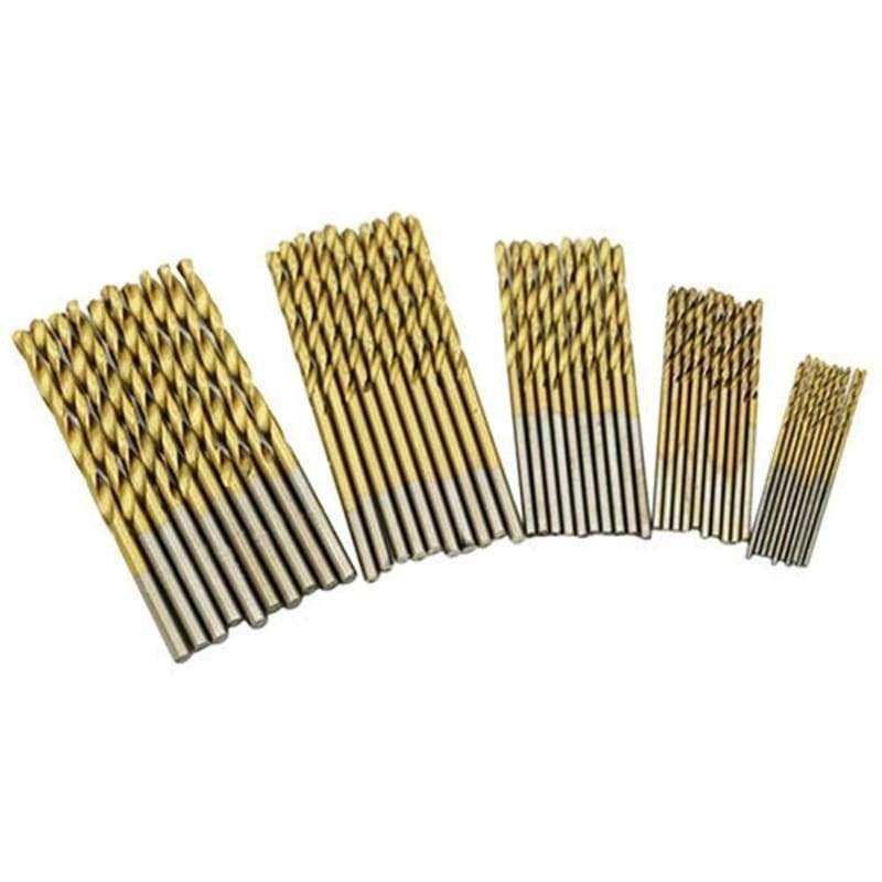 50PCS 1/1.5/2/2.5/3mm Hot Sell Home Rotary Tools Titanium Coated High Speed Steel HSS Drill Bit
