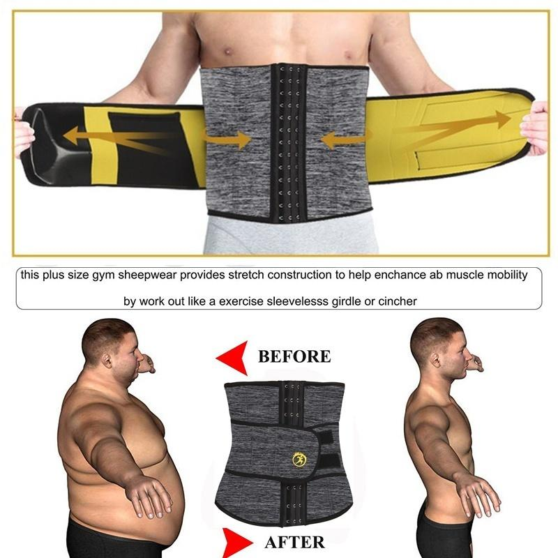 Men Hot Neoprene Sweat Body Shaper Belt Waist Trainer Shapewear for Weight Loss