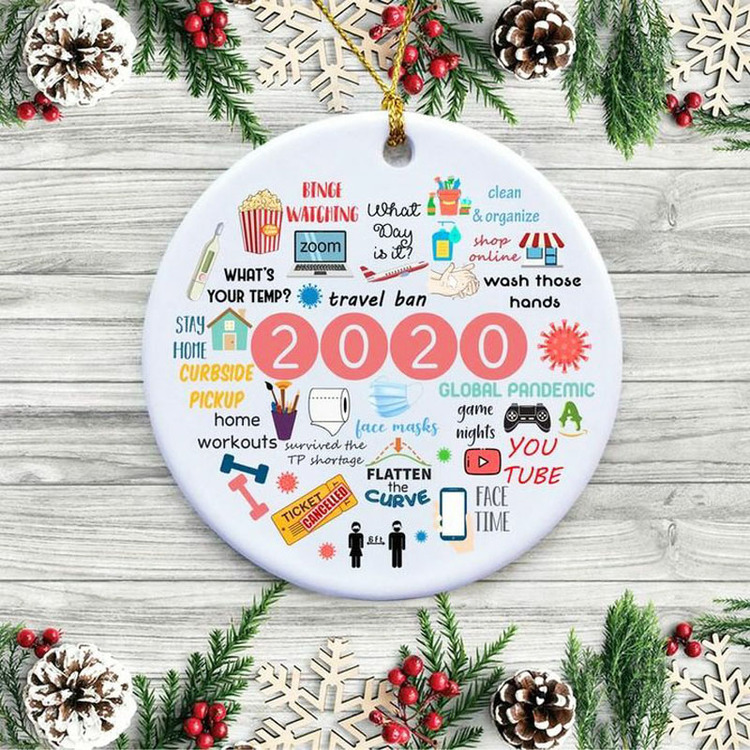 2020 Annual Events Christmas Ornament with Gift Box