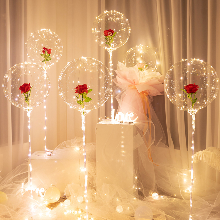 (Limited Offer)LED Luminous Balloon Rose Bouquet