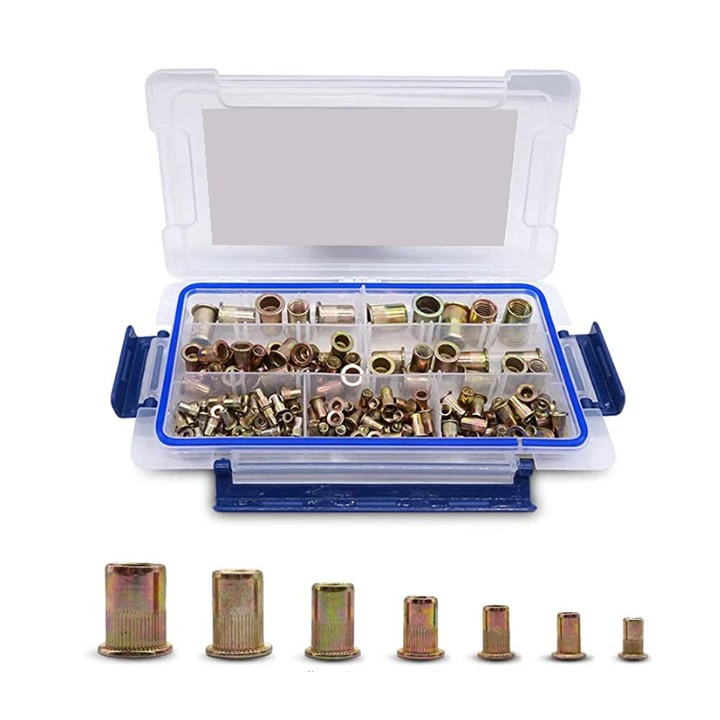 Hand Rivet Nut Tool, Professional Rivet Nut Setter Kit with 11PCS Metric & Inch Mandrels