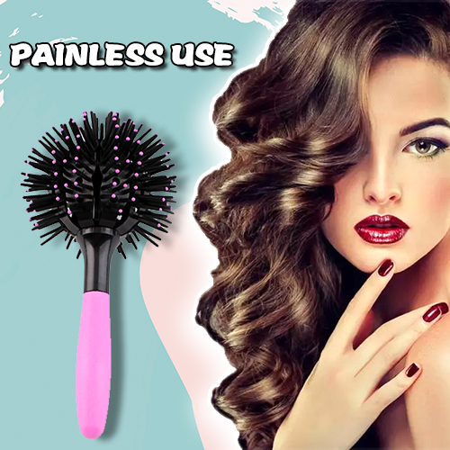 Spherical curly hair 3D comb