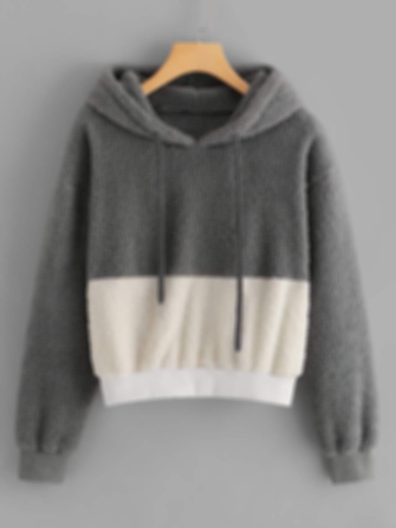 Color-Block Hooded Teddy Sweatshirt