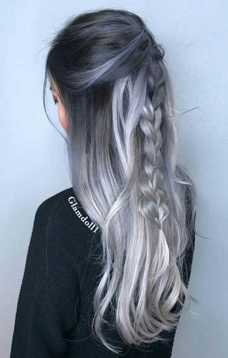 Gray Wigs Natural Hair Line Lace Frontal Wigs Bundles With 360 Frontal Good Hair Store Bundles Purple Pixie Cut Wig Brazilian Hair Inches Overtone Gray Hair