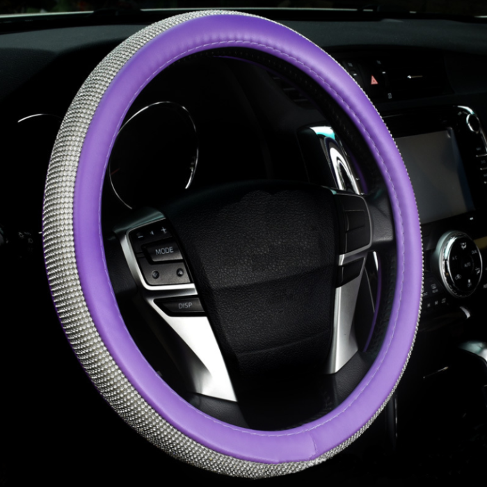 New Diamond Leather Steering Wheel Cover