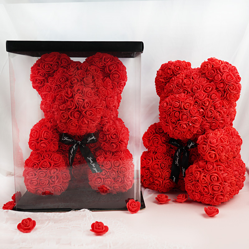 💗Valentine's Day💗Red Crystal Rose Bear